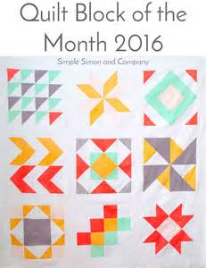 Quilt Block Of The Month by 2016 Quilt Block Of The Month Quilt Top Simple Simon And