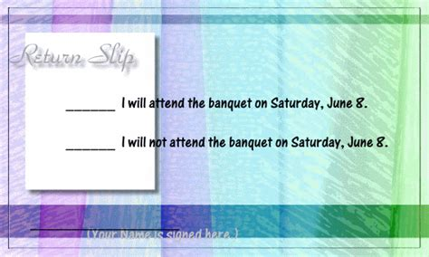 Invitation Letter With Reply Slip Socializing