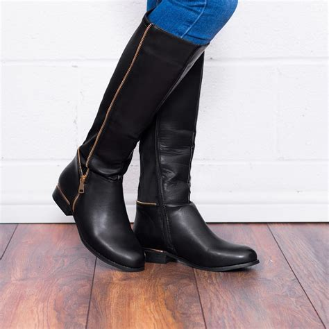 provence black knee high boots from spylovebuy