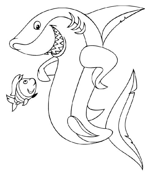 Galerry cute shark coloring page
