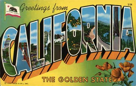 printable state postcards greetings from california the golden state postcard
