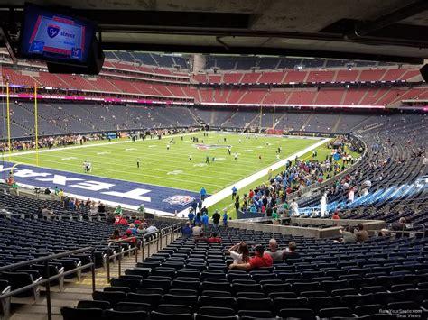 seat section nrg stadium section 133 houston texans rateyourseats com