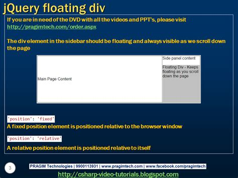 jquery floating div sql server net and c tutorial jquery floating div
