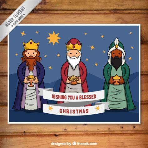 imagenes de navidad reyes magos tarjeta de navidad con los reyes magos descargar