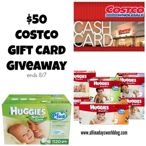 try huggies snug dry diapers with a 50 costco gift card giveaway - Costco Gift Card Giveaway