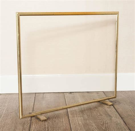 Brass Fireplace Screen by A 1970s Quot Regency Quot Brass And Glass Screen At 1stdibs