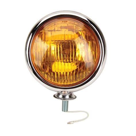 vintage amber fog lights for sale speedway motors chrome vintage hotrod style fog light 12
