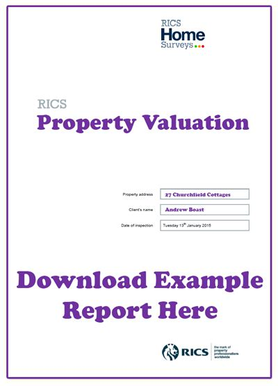 property valuation report sle house surveys from rics surveyors sam conveyancing