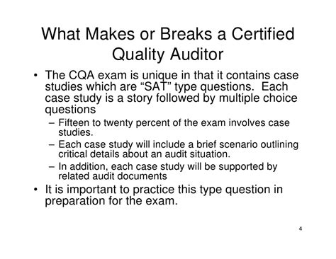 Quality Auditor by Certified Quality Auditor Certification Overview
