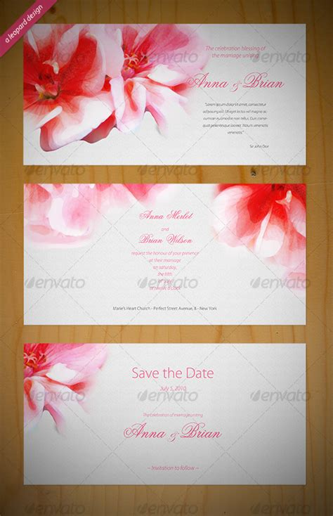 Invitation Letter Psd Beautiful Wedding Invitation Graphicriver