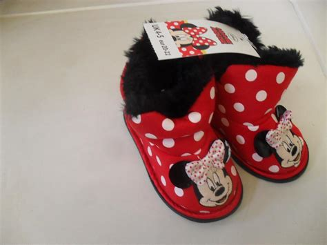 Boots Minnie Mouse By Kenmomshop bnwt disney minnie mouse slippers boots with fur