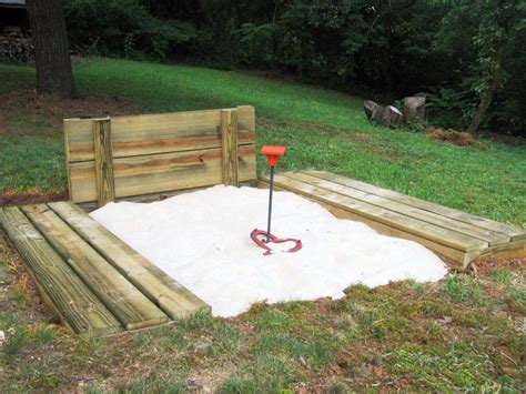 How To Build A Horseshoe Pit How Tos Diy How To Build Backyard Pit