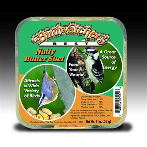 birdwatcher s best nutty butter suet cake 11 oz 12 pack