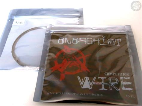 Anarchist Competition Wire Ni80 Nichrome 80 An80 Authentic anarchist competition wire an80 spain cigar