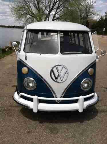 sell   vw bus volkswagen van kombi deluxe  window splitscreen  usa shipping