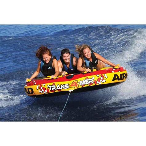 4 person boat tube airhead transformer 4 person towable tube west marine