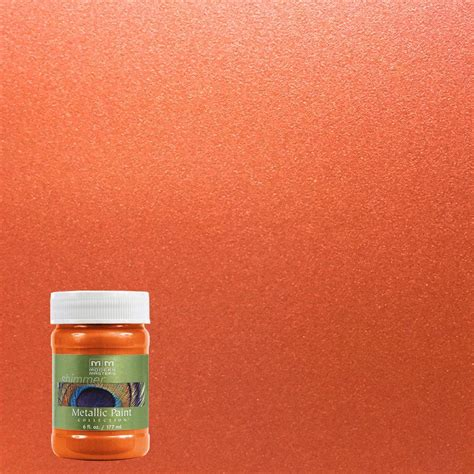 modern masters 6 oz burnt orange metallic interior exterior paint me70206 the home depot