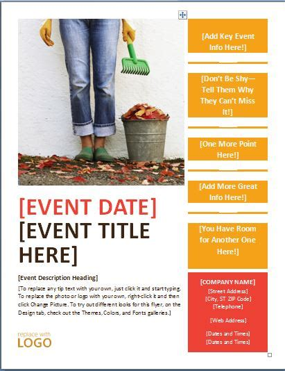 Event Flyer Template Generic Seasonal Event Flyer Template Formal Word Templates