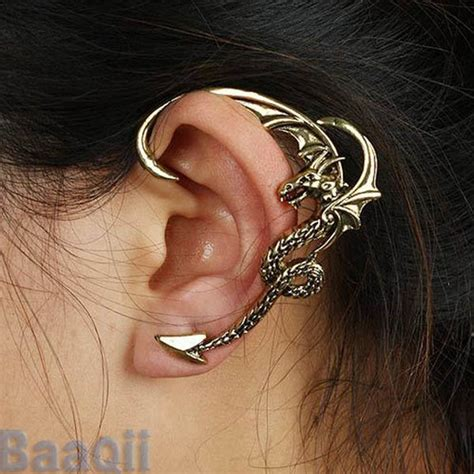 how to make ear wrap jewelry fly cartilage earrings wrap clip left ear cuff