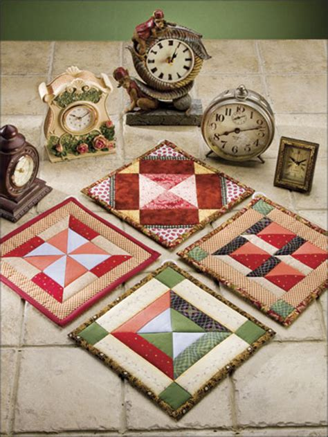 Fast Quilting Projects Pot Holders Mug Rugs Pincushions - time will tell free quilted pot holder pattern