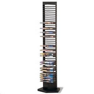 modern style black finish metal dvd tower rack 40 dvds