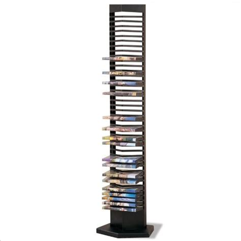 dvd racks modern style black finish metal dvd tower rack 40 dvds