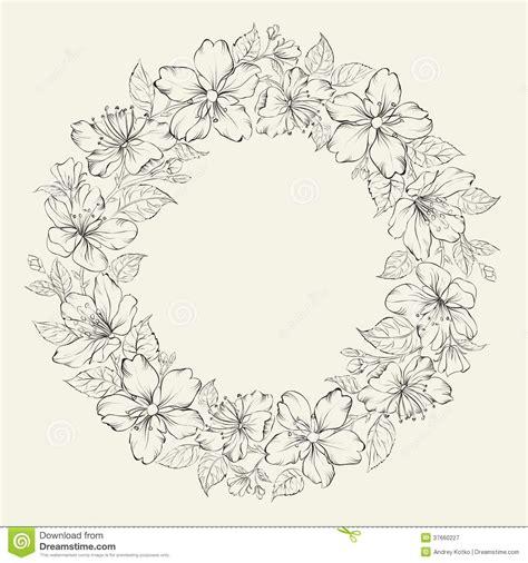 vector illustration layout floral wreath wedding design stock vector image 37660227