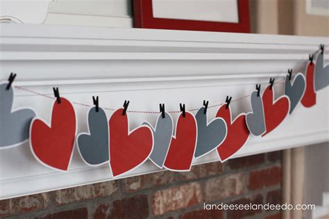 printable heart decorations valentine s day mantel decor and printable landeelu com