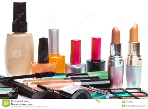 Makeup Makeover 1 Set set of cosmetic products stock photography image 23402842