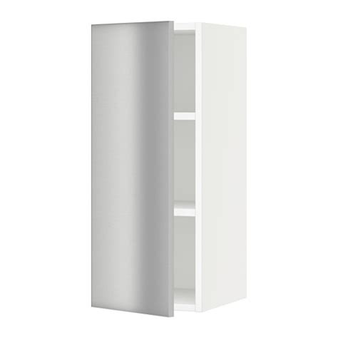 sektion wall cabinet white grevsta stainless steel