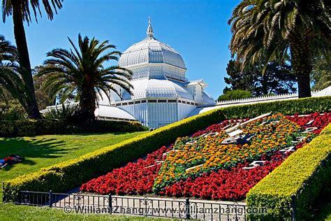 Golden Gate Park Flower Garden Flower Clock At Conservatory Of Flowers San Francisco