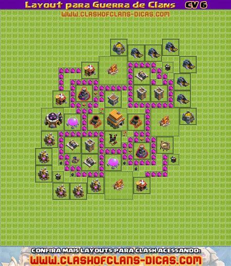 layout cv guerra 6 layouts para guerra de clans cv 6 clash of clans dicas