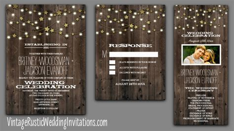artisan ny home string lights home vintage rustic wedding invitations