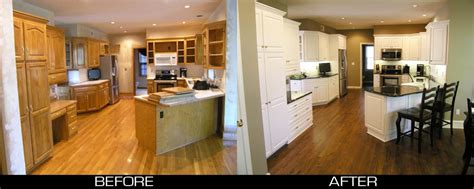 Golden Oak Kitchen Cabinets Transformed From Plain Quot Golden Oak Quot To Stunning White