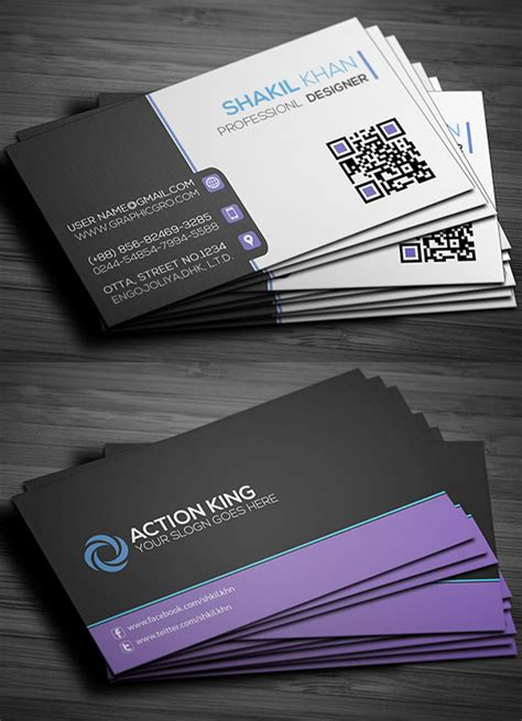 Presentation Cards Templates by Free Business Cards Psd Templates Print Ready Design