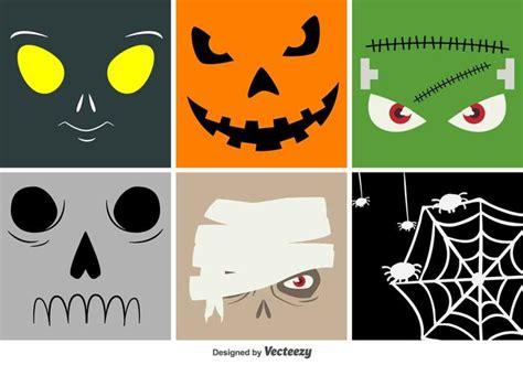 imagenes para halloween animadas caras de vectores de dibujos animados de halloween