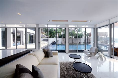 Living Room Pool View Baan Citta In Bangkok Thailand By The Xss