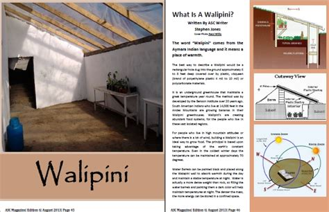 Earth Homes 5 reasons to grow your food in a walipini ground report