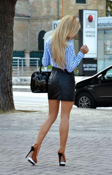 skirt and high heels leather mini black skirt and high heels fall13