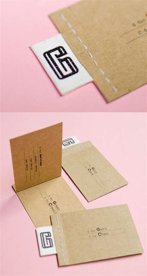 design grafis business card earthy interactive stitched business card design best