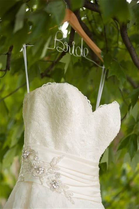 1000  images about DIY Wedding dress hanger on Pinterest