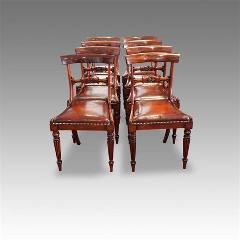 William Iv Dining Chairs Set Of 8 William Iv Rosewood Dining Chairs Now Sold Hingstons Antiques Dealers