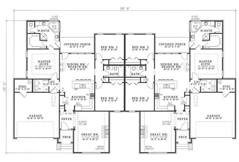 multi unit floor plans traditional multi unit house plans home design ivy