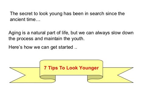 7 Tips On Looking Younger by 7 Tips On How To Look Younger