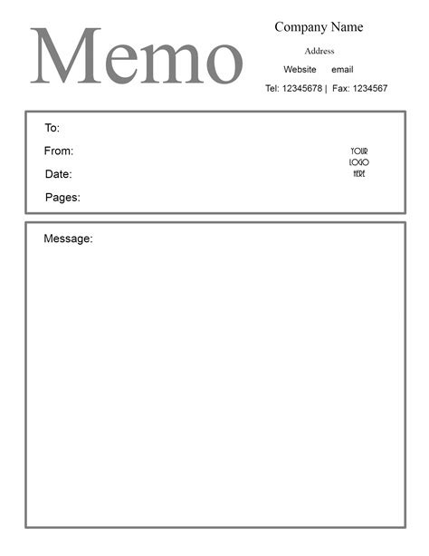 Free Template Word by Free Microsoft Word Memo Template