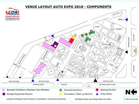 layout plan of new delhi auto expo 2018