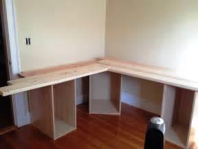 Built In Corner Desk Ideas Diy Built In Desk And Bookshelves American Hwy