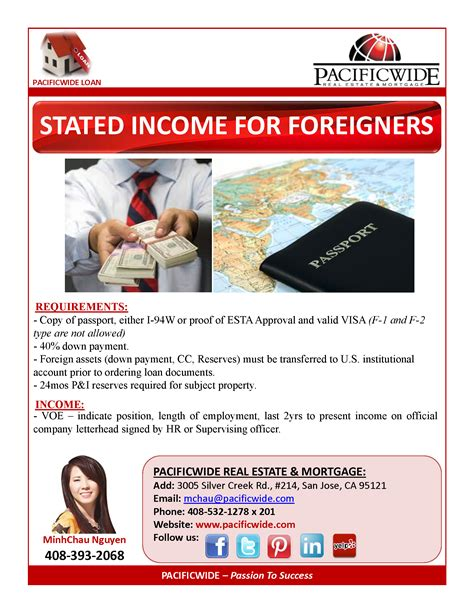 stated income for foreigners