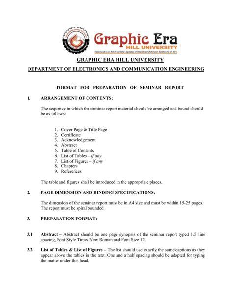 layout of seminar report certificate format for seminar report gallery