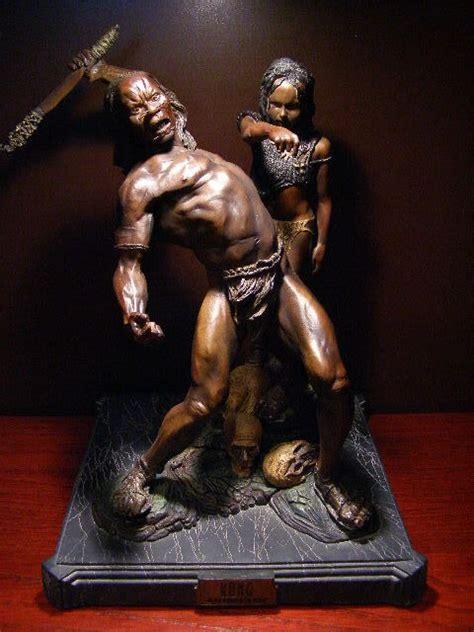 king kong skull island natives statue  weta